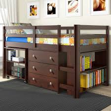 full bedrooms full size loft bed with desk space full size loft