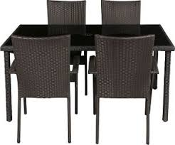 lima rattan effect 4 seater patio furniture dining set argos on