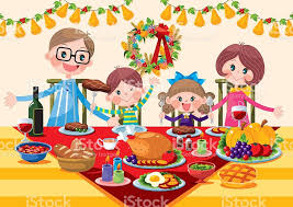 thanksgiving table clip vector images illustrations istock