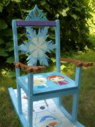 Childrens Rocking Chairs Personalized Frozen Themed Rocking Chair Built For My Daughter Frozen Anna