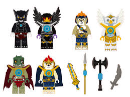 lego chima characters removable wall stickers 6 piece set