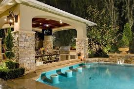 Backyard Kitchen Design Ideas Pool And Outdoor Kitchen Designs Brilliant Design Ideas Impressive