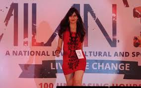 fashion show at srm university part 1 youtube