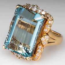antique aquamarine engagement rings aquamarine rings jewelry march birthstone eragem