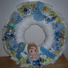 baby shower precious moments diaper wreath baby