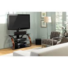 Bell O Triple Play Tv Stand Bell U0027o Brown And Black Entertainment Center Tpc2143 The Home Depot
