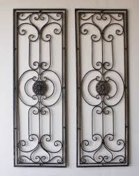 Wrought Iron Decorations Home by Tuscan Large Scrolling Wrought Iron Wall Grille Set Tuscan Wrought