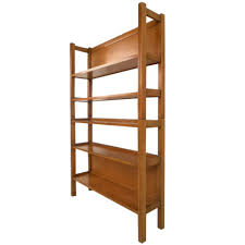 unique mid century modern two piece maple bookshelf at 1stdibs