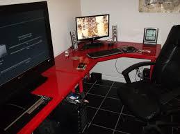 Z Line Belaire Glass L Shaped Computer Desk Corner Gaming Computersk With Z Line Belaire Glass L Shapedsks For