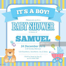 Invitation Card Baby Shower Baby Shower Invitation Card Vector Art Getty Images