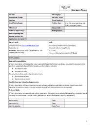 10 best images of job description format template sample job