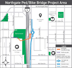 Seattle Light Rail Stops Northgate Pedestrian And Bicycle Bridge Transportation Seattle Gov