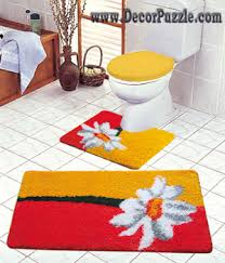 Bathroom Carpets Rugs Modern Bathroom Rug Sets Bath Mats 2015 And Yellow Bathroom