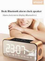 ifkoo q8 2 4w 2500mah mirror led display alarm clock wireless