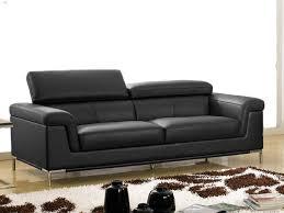 canapé cuir noir 3 places canapé 3 places en cuir rania