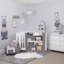 Grey And White Crib Bedding Nojo Play Day Pals Cream And Grey 4 Piece Crib Bedding Set Toys