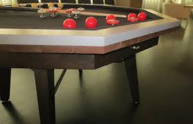 custom bumper pool table walnut and lime stone 1