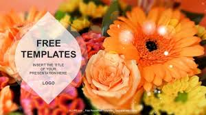 flowers nature ppt templates download free