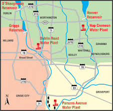 Franklin County Ohio Map the division of water