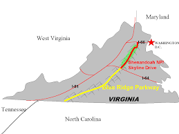 Skyline Drive Map Fishing The Blue Ridge Mountains And Shenandoah National Park