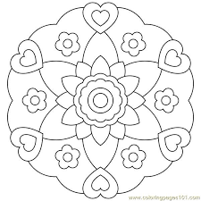 hearts and flowers coloring pages colouring in tiny page print
