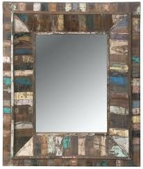 Mirrored Wall Panels Wall Ideas Small Distressed Wall Mirror Distressed Rectangular