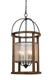 Iron And Wood Chandelier Iron Wood Sheer Shade Chandelier 16 Fx 3536 4l