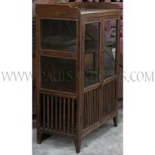 old glass doors old thai teak kitchen cabinet meatsafe with glass doors