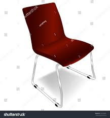 Red Metal Chair Red Metal Chair Vector Stock Vector 121876930 Shutterstock