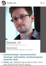 Snowden Meme - someone made edward snowden a tinder account and some of the