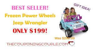 power wheels jeep frozen best seller frozen power wheels jeep wrangler only 199