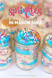 Mason Jar Party Favors Sprinkles Birthday Cake In Mason Jars Spaceships And Laser Beams