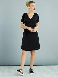 ribbed knit wrap dress women size 34 to 48 black kiabi 12 00eur