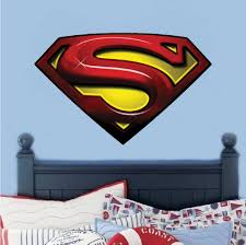 superman decal mural super heroes wall decals primedecals