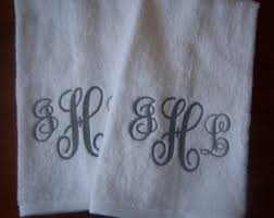 monogrammed wedding gifts nautical towels 2 compass embroidered boat towels