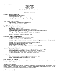 Resume Other Activities Resume Honors Resume For Your Job Application