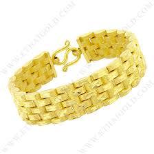 bracelet from chain images Baht matte diamond cut hollow flat m link chain bracelet in 23k jpg