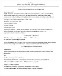Administrative Assistant Key Skills For Resume 31 Executive Resume Templates In Word Free U0026 Premium Templates