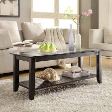 Glass Coffee Tables by Convenience Concepts Carmel Rectangle Wood And Glass Coffee Table
