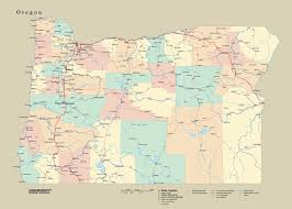 tackamap oregon state wall map cut out style from onlyglobes