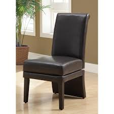 Elegant Modern Parsons Chair Leather Best 9993 Brown Leather Parsons Chairs Luxury Dark Wood Acacia