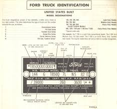 decoding warranty plate and serial number 1960 f 100 custom cab