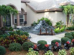 landscaping ideas for small front yards with grey wall easy