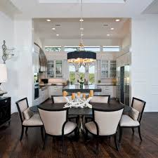 center island dining table contemporary kitchen dining open to each other center island but