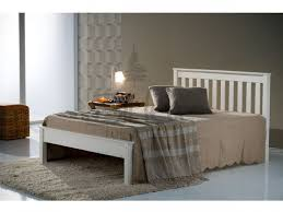 Wooden Bed Frame Double by Birlea Denver 4ft Small Double Ivory Wooden Bed Frame By Birlea