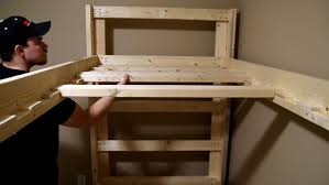 Make Wood Bunk Beds by Easy And Strong 2x4 U0026 2x6 Bunk Bed 6 Steps With Pictures