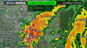 Map Of Denton County Flooding Issues Linger After Rain Moves East Wfaa Com