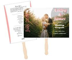 Diy Wedding Program Fan Custom Wedding Program Fan Outside The Box Wedding