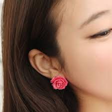 stud for ear 12 pair new jewelry women big flower ear stud earrings for