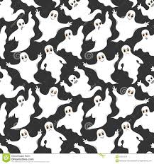 vector ghosts seamless gray pattern with cute ghosts stock vector image 50531234